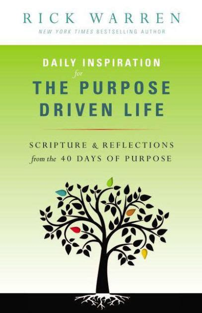 libro daily inspiration for the daily inspiration for the purpose driven life scriptures