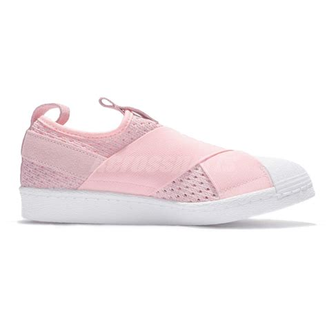 Slip On Shoes Pink adidas originals superstar slip on w pink white womens casual shoes bb2122 ebay