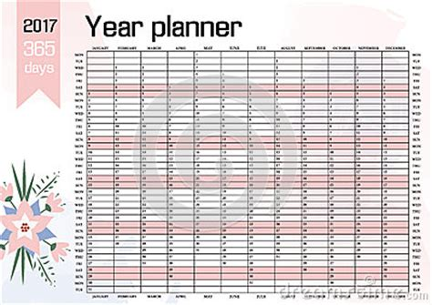 Year Wall Planner Plan Out Your Whole With This 2017 Yearly Calendar Template Vector Design Yearly Wall Calendar Template