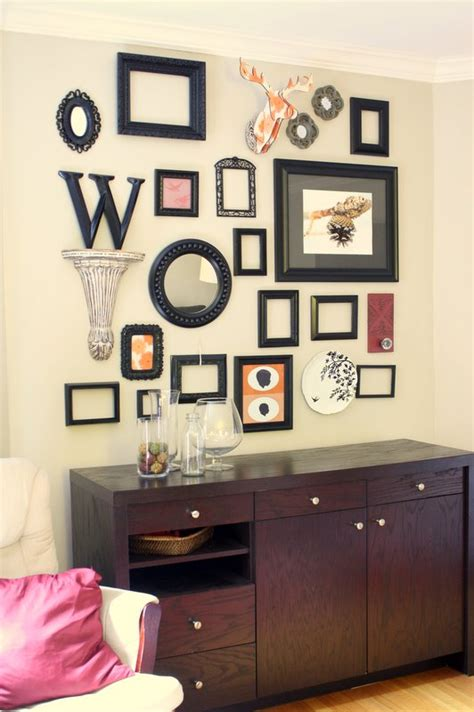 wall frame collage ideas remodelaholic wall decor frame collage guest