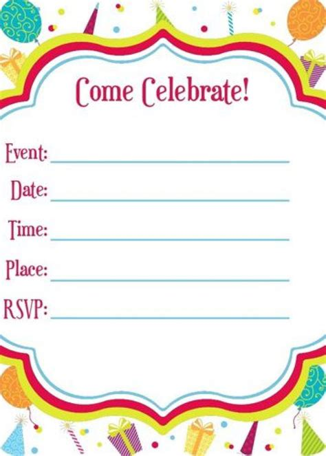 Happy Birthday Invites Template by Birthday Invitation Happy Birthday Invitation Cards