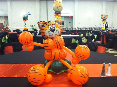 tiger centerpieces 1000 images about jungle safari tropical on balloon arch sculpture and arches