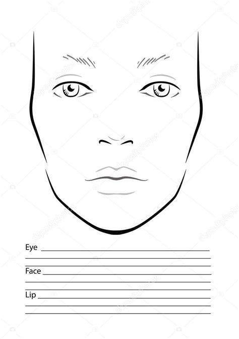 face chart makeup artist blank template stock vector art makeup face charts for life style by modernstork com