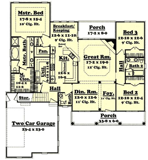 2400 Square Foot House Plans Country Style House Plans 2400 Square Foot Home 1