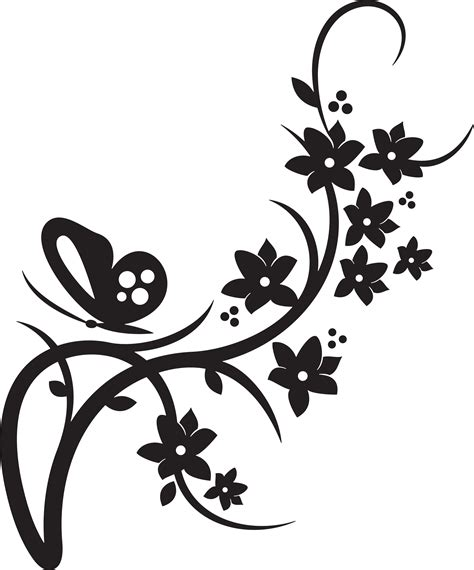 big collection vector floral borders isolated stock vector 411930550