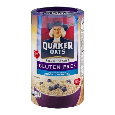 whole grain quaker oats gluten free quaker oats gluten free 1 minute oats hy vee