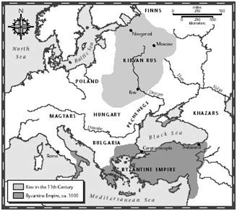 The Byzantine Empire Russia And Eastern Europe Outline Map by My Eastern Europe World Database
