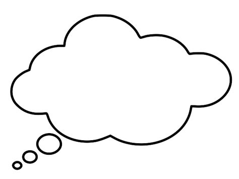 thought template thought outline clipart best
