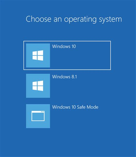 how to choose windows how to bring back the choose an operating system to start boot menu in windows 8 and 10