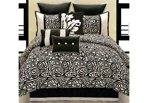10 comforter set king carrie black 10 pc king comforter set king linens black