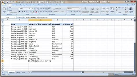 format excel data entering and formatting data in excel youtube
