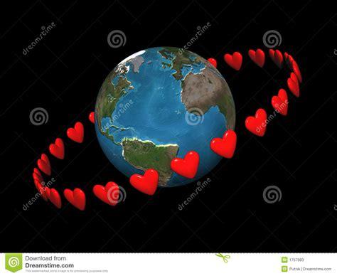 imágenes graciosas que se muevan corazones que se mueven en 243 rbita alrededor stock de