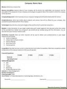 executive summary template free printable word templates