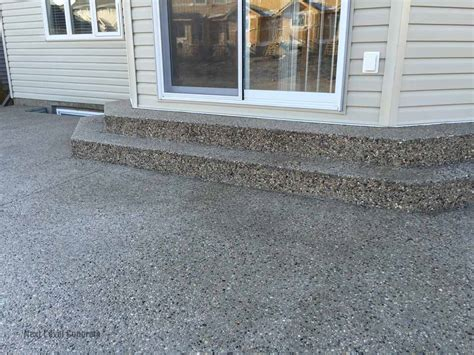 Aggregate Patio by Next Level Concrete Ltd Edmonton Concrete Contractor