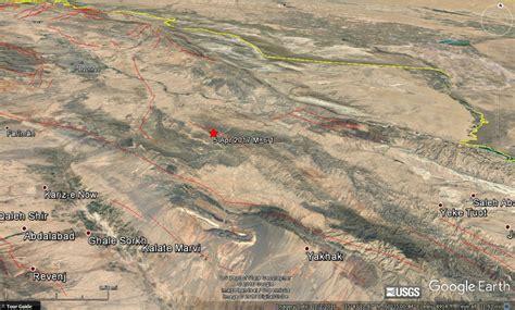 earthquake iran m 6 1 earthquake in iran a near miss temblor net