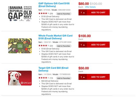 Gap E Gift Card - staples amex offer spend 100 get 20 back