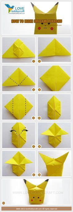 tutorial origami pokemon origami pikachu tutorial cute origami pokemon pikachu