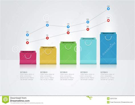 graph layout vector paper bag graph stock images image 32313794