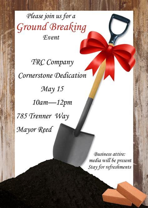 groundbreaking invitation template grand opening invitations and ground breaking invitations