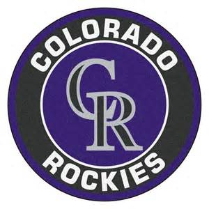fanmats mlb colorado rockies black 2 ft 3 in x 2 ft 3 in round accent rug 18134 the home depot