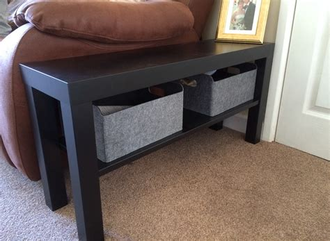 lack hacks ikea hack lack tv bench as side table ikea pinterest