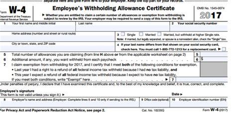 printable w 4 tax form form w 4 2014