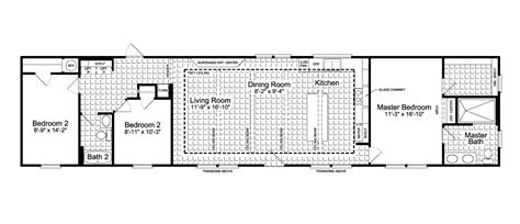 the santa fe ff16763g manufactured home floor plan or the santa fe ff16763g manufactured home floor plan or