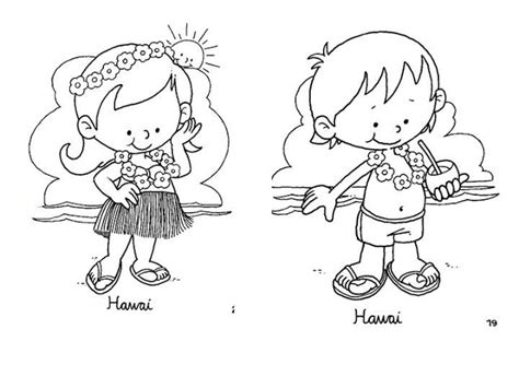 hawaiian boy pages coloring pages pinto dibujos vestuario t 237 pico de hawaii
