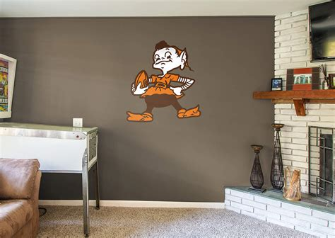 cleveland browns home decor cleveland browns classic logo wall decal shop fathead