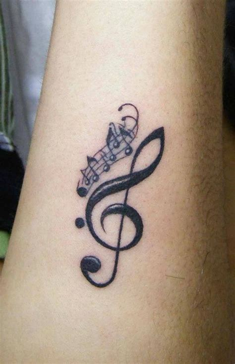 musical instruments tattoo designs ideas g clef small notes lyrics
