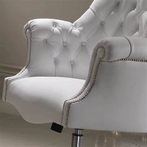 white leather chair luxury italian white leather executive office chair