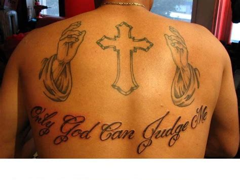 only god can judge me tattoo with cross only god can judge me cross and grey ink on