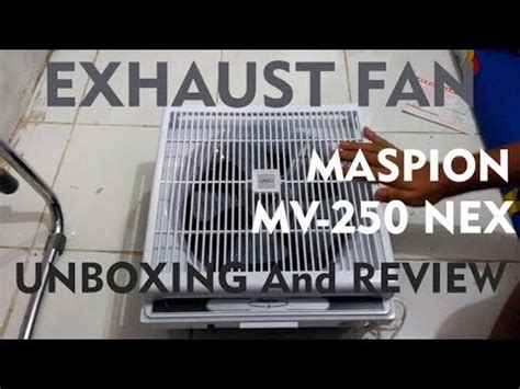 Maspion Nex 300 Exhaust Fan exhaust fan maspion mv 250 nex unboxing and review