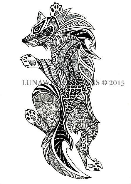 tattoo pen for dogs wolf dog fox wolves tattoo idea baby nursery art lunawind