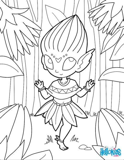coloring page flower bud flower bud elf coloring pages hellokids com