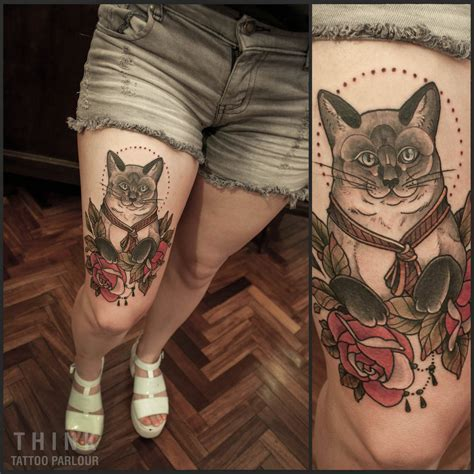 the parlour tattoo cat tattoos every cat design placement and style