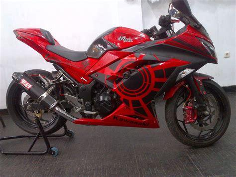 Foto Modifikasi Motor by Foto Modifikasi Motor 250 Merah Terbaru 2015