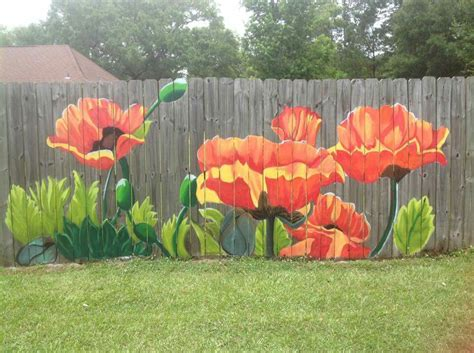 painting backyard fence flower fence for a great addition to your yard