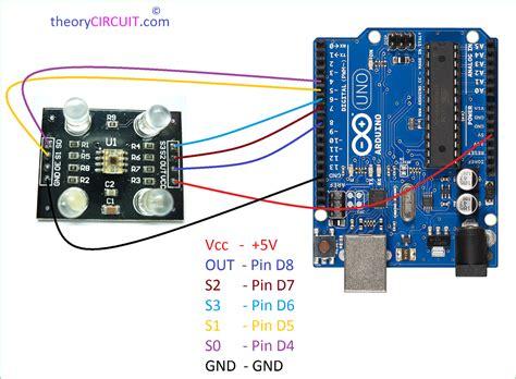 color sensor tcs3200 arduino interfacing