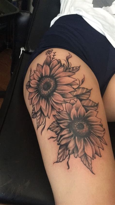 sunflower thigh tattoo best 25 tattoos ideas on read news