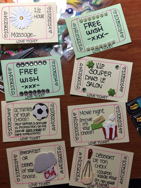 ideas for your boyfriend ticket home made inspiration simple ideas for your