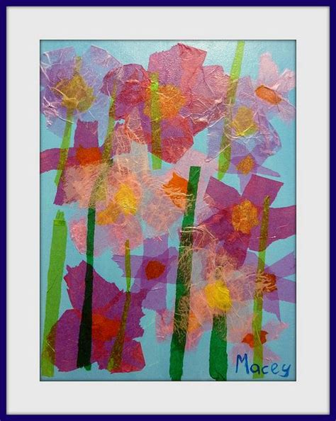 Arts And Crafts Tissue Paper Flowers - tissue paper paper collages and tissue paper on