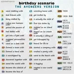 birthday scenario game the avengers edition by