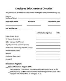 Employee Clearance Letter Sle Exit Clearance Form 6 Free Documents In Word Pdf