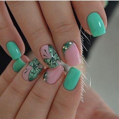 easy nail art butterfly best 25 mint nail art ideas on pinterest mint nail