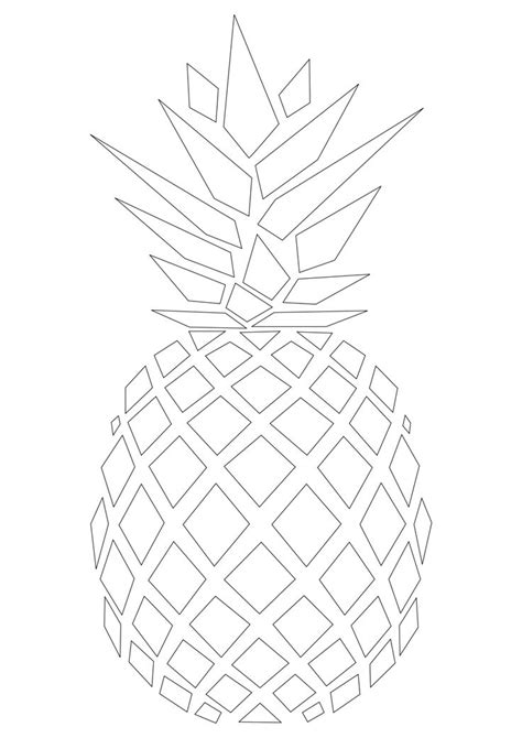 best 25 pineapple template ideas on pinterest luau