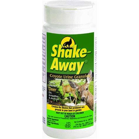 urine repellent shake away deer repellent granules coyote urine granules 28 5 oz