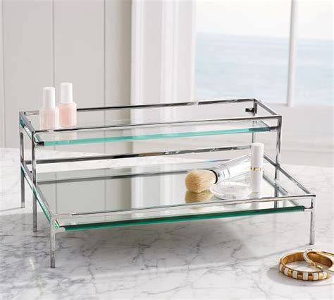 Mirrored Makeup Drawers by Mirrored Makeup Storage Roselawnlutheran