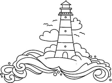 coloring pages lighthouse free printable lighthouse at coastline coloring pages gianfreda net