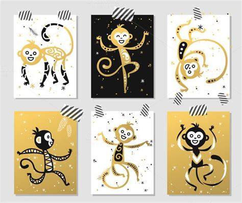 new year decoration monkey new year monkey vector decor by vector stock on